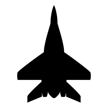 Fighter plane Military fighter airplane icon black color vector illustration flat style simple image