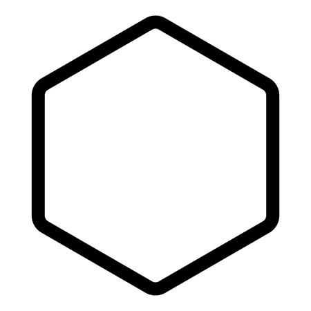 Hexagon shape element icon black color vector illustration flat style simple image