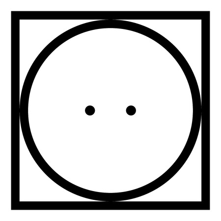 Drum drying in machine usually mode Clothes care symbols Washing concept Laundry sign icon black color vector illustration flat style simple image 矢量图像