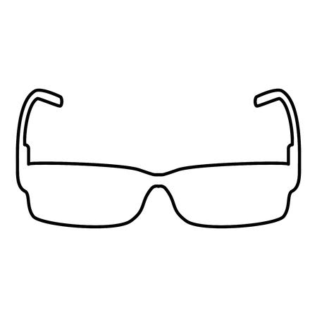 Sunglasses icon outline black color vector illustration flat style simple image Foto de archivo - 122422732