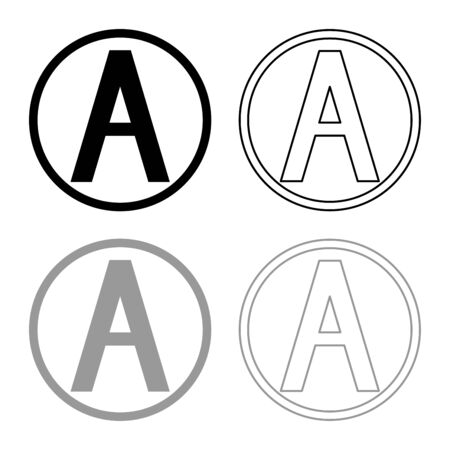 Dry cleaning with any solution Clothes care symbols Washing concept Laundry sign icon outline set black grey color vector illustration flat style simple image Banque d'images - 128284274