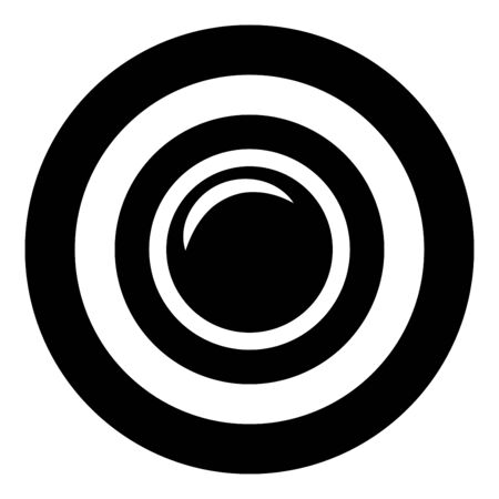 Camera lens photo equipment icon in circle round black color vector illustration flat style simple image