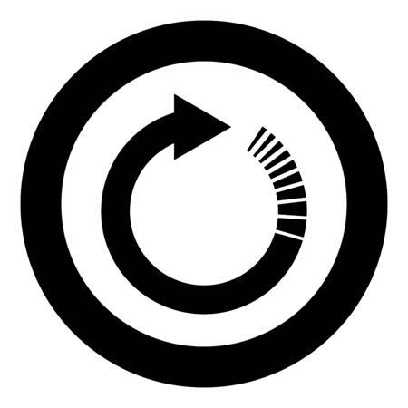 Circle arrow with tail effect Circular arrows Refresh update concept icon in circle round black color vector illustration flat style simple image Çizim