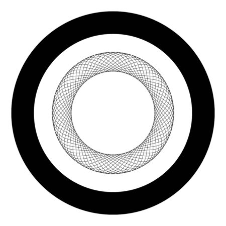 Spirograph element empty in center Abstract concentric symbol icon in circle round black color vector illustration flat style simple image