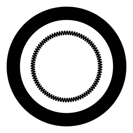 Decoration circle Decorative line Art frame icon in circle round black color vector illustration flat style simple image