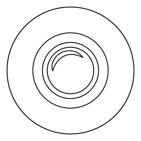 Camera lens photo equipment icon in circle round outline black color vector illustration flat style simple image Illusztráció