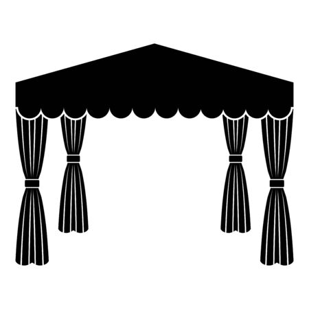Canopy Pop up tent Commercial pavilion Awning for rest Marquee Chuppah icon black color vector illustration flat style simple image