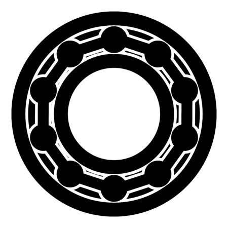 Bearing with ball in side view icon black color vector illustration flat style simple image