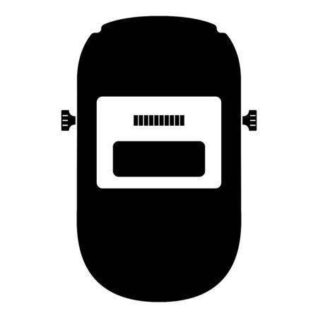 Welding mask Welder face shield Individual protection icon black color vector illustration flat style simple image