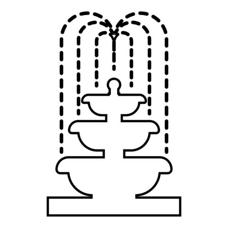 Fountain Tier of Water icon outline black color vector illustration flat style simple image 일러스트