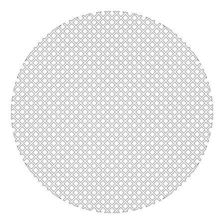 Round filter material icon outline black color vector illustration flat style simple image