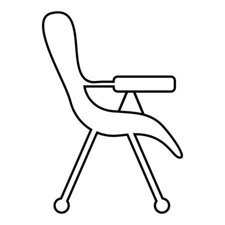 Feeding chair icon outline black color vector illustration flat style simple image 일러스트