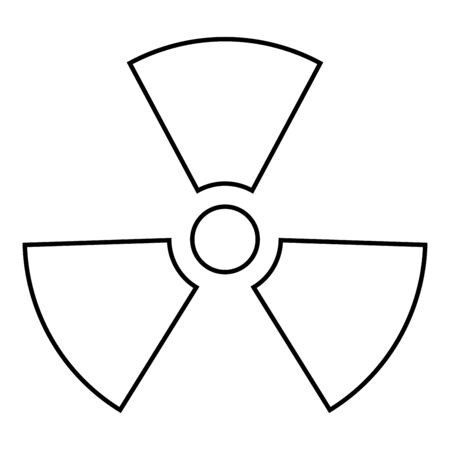 Radioactivity Symbol Nuclear sign icon outline black color vector illustration flat style simple image 일러스트