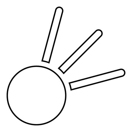 Symbol meteorite icon outline black color vector illustration flat style simple image 일러스트