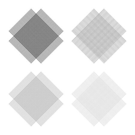 Grid from lines Symbol of fabric icon outline set black grey color vector illustration flat style simple image