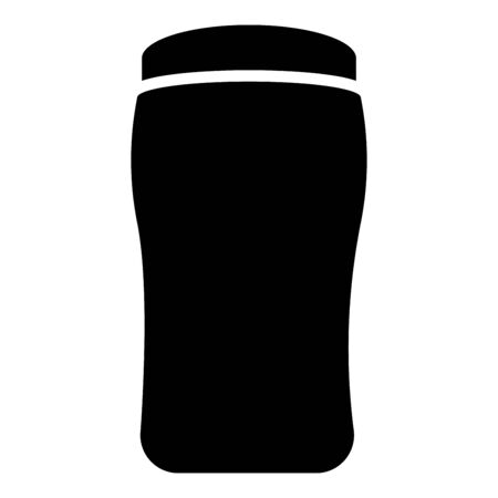 Antiperspirant dry Deodorant Cosmetic product icon black color vector illustration flat style simple image