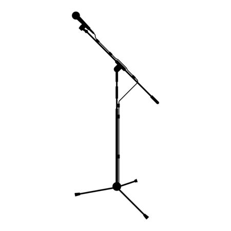 Stand microphone Sound recording equipment Racks for mic icon black color vector illustration flat style simple image