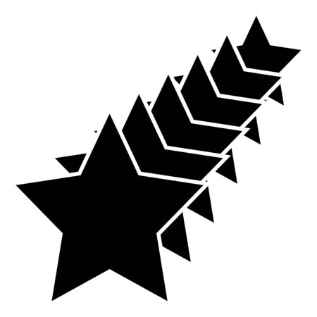 Six stars Star concept icon black color vector illustration flat style simple image