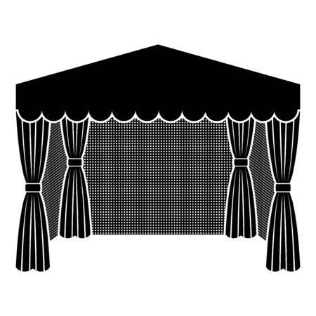 Pavilion for shopping Business tent Marquee for advertising icon black color vector illustration flat style simple image Векторная Иллюстрация