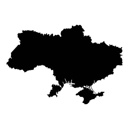 Map Ukraine icon black color vector illustration flat style simple image  イラスト・ベクター素材