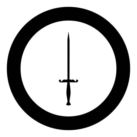 Stylet knife Stiletto icon in circle round black color vector illustration flat style simple image