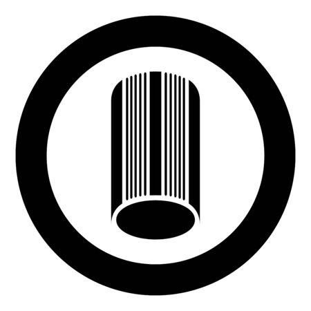 Solarium icon in circle round black color vector illustration flat style simple image 일러스트
