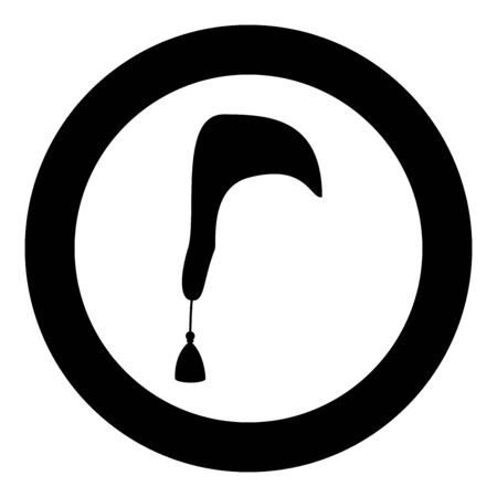 Nightcap Hat for sleep icon in circle round black color vector illustration flat style simple image