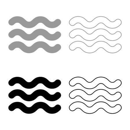 Washable particularly resistant Designation on the wallpaper symbol icon outline set black grey color vector illustration flat style simple image Vektorgrafik