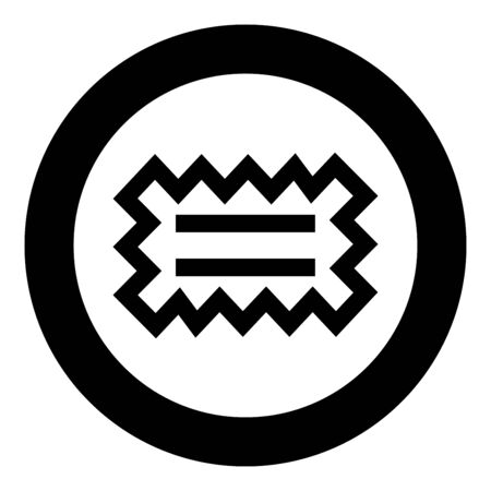 Special glue needed Designation on the wallpaper symbol icon in circle round black color vector illustration flat style simple image