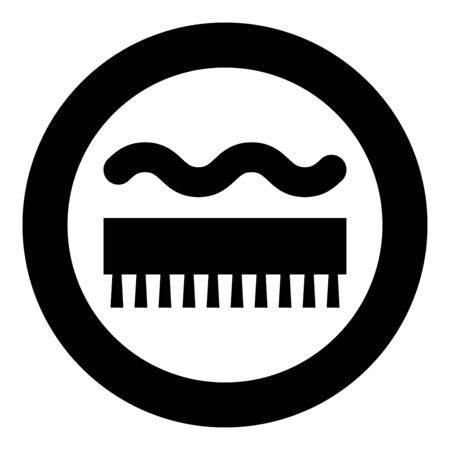Abrasion resistant for broom brushing Designation on the wallpaper symbol icon in circle round black color vector illustration flat style simple image