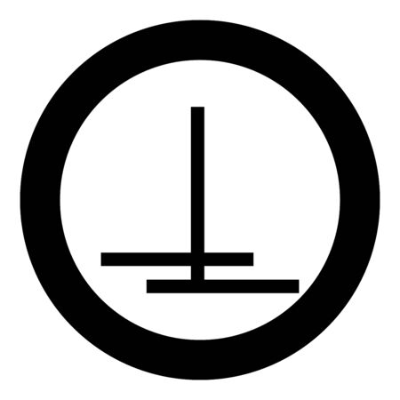 Cut off after gluing with overlapping Designation on the wallpaper symbol icon in circle round black color vector illustration flat style simple image