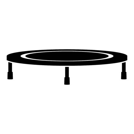 Trampoline jumping for bounce icon black color vector illustration flat style simple image Illustration