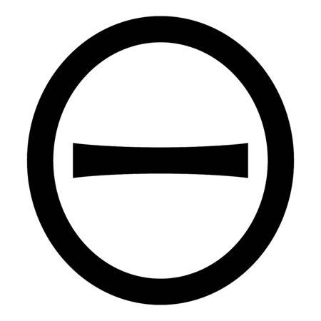 Theta capital greek symbol uppercase letter font icon black color vector illustration flat style simple image