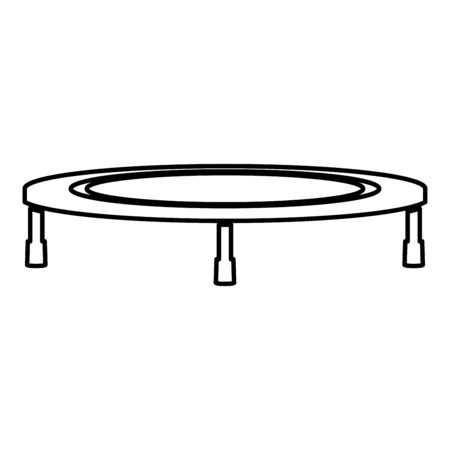 Trampoline jumping for bounce icon outline black color vector illustration flat style simple image