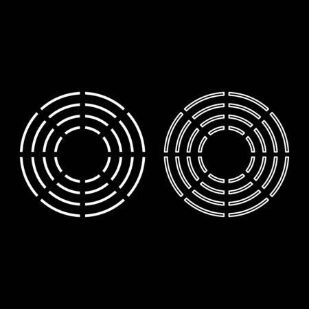 Theta greek symbol Teta Zeta icon outline set white color vector illustration flat style simple image