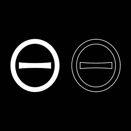 Theta capital greek symbol uppercase letter font icon outline set white color vector illustration flat style simple image