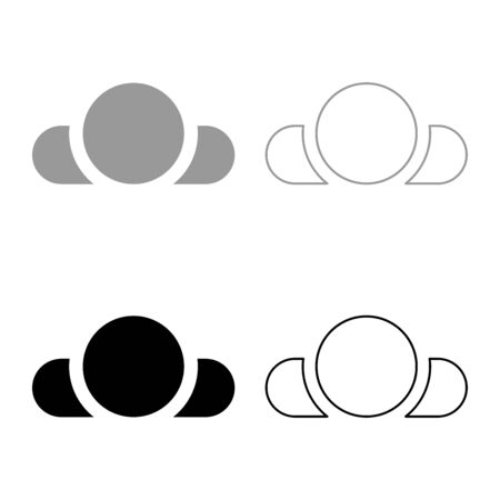 Man lying on back View head shoulders icon outline set black grey color vector illustration flat style simple image