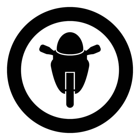 Motorcycle sport type Race class icon in circle round black color vector illustration flat style simple image