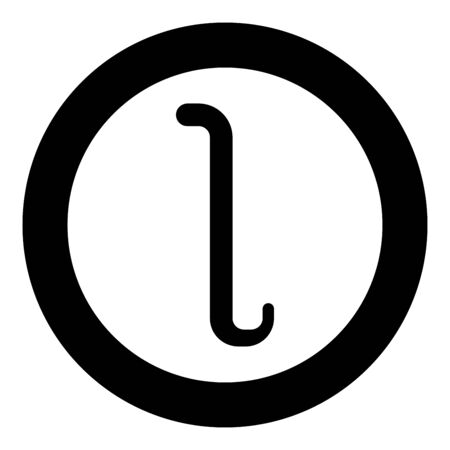 Iota greek symbol small letter lowercase font icon in circle round black color vector illustration flat style simple image Illustration