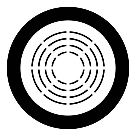 Ceramic heater symbol type cooking surfaces sign utensil destination panel icon in circle round black color vector illustration flat style simple image