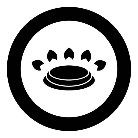 Gas burner stove symbol type cooking surfaces sign utensil destination panel icon in circle round black color vector illustration flat style simple image Illustration
