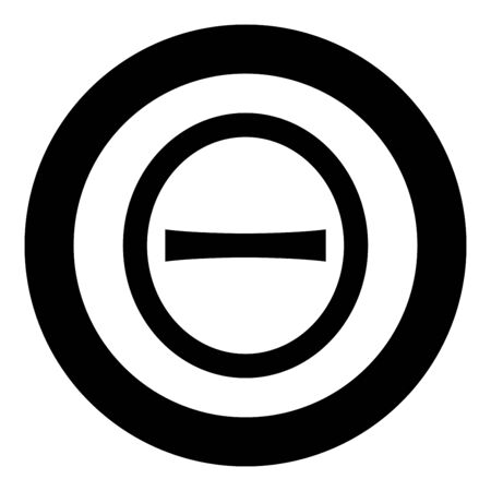 Theta capital greek symbol uppercase letter font icon in circle round black color vector illustration flat style simple image