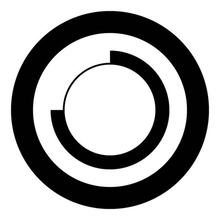 Techno Circle Modern Infographic Concept Abstract creative futuristic technology Graphic user interface icon in circle round black color vector illustration flat style simple image