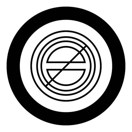 Halogen symbol type cooking surfaces sign utensil destination panel icon in circle round black color vector illustration flat style simple image