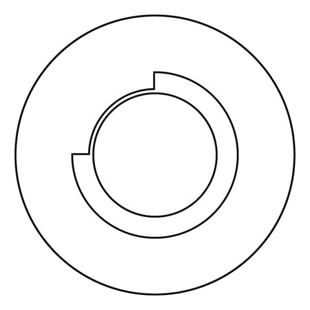 Techno Circle Modern Infographic Concept Abstract creative futuristic technology Graphic user interface icon in circle round outline black color vector illustration flat style simple image