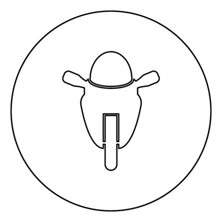 Motorcycle sport type Race class icon in circle round outline black color vector illustration flat style simple image