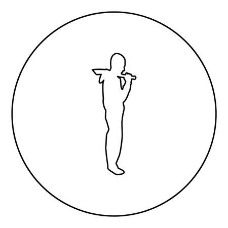 Man with sword machete Cold weapons in hand military man Soldier Serviceman in various positions Hunter with knife Fight poses Strong defender Warrior concept Weaponry Standing  silhouette in circle round black color vector illustration contour outline style image simple image 矢量图像