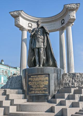 the liberator: Russia, Mosca. Monumento ad Alessandro II Liberator - un monumento al imperatore russo Alessandro II a Mosca nella piazza nei pressi della Cattedrale di Cristo Salvatore