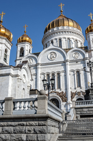 The Cathedral of Christ the Savior in Moscow - Cathedral of the Russian Orthodox Church, not far from the Kremlin on the left Bank of the Moscow river. photo