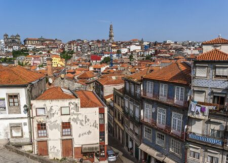 quarters: Portugal, Porto . View of the living quarters of the old city from the observation deck near the Cathedral Se.